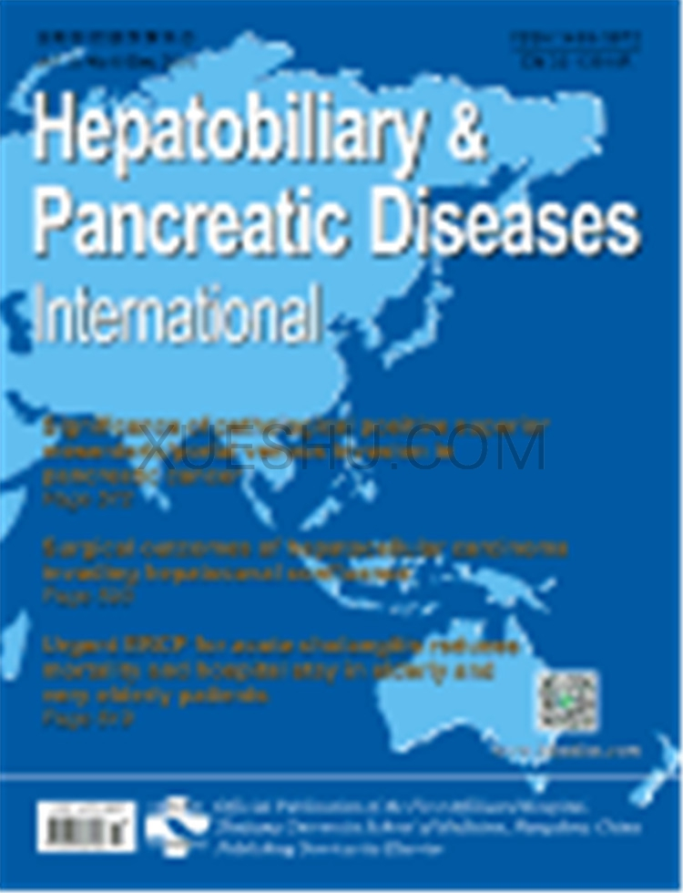 Hepatobiliary Pancreatic Diseases International