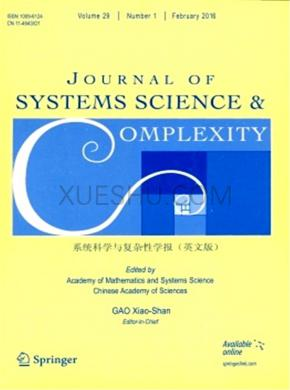 Journal of Systems Science Complexity杂志